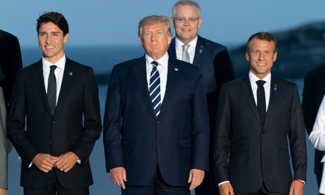 cúpula-G7-Trudeau-Trump-Macron-Foto-Andrea-Hanks